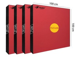 PARS - Pars Hedef Minderi 100X100X21 Cm Göbek 15,5 Cm Kırmızı (1)
