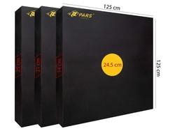 PARS - Pars Hedef Minderi 125X125X21 Cm Göbek 24,5 Cm Siyah (1)