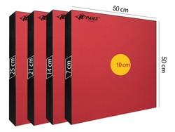 PARS - Pars Hedef Minderi 50X50X7 Cm Göbek 10 Cm Kırmızı (1)