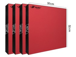 PARS - Pars Hedef Minderi 50X50X7 Cm Kırmızı (1)